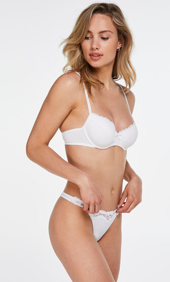 Vorgeformter Bügel-BH Secret Lace mit Spitze, Weiß