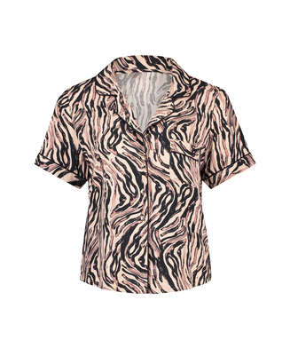 Pyjamaoberteil Zebra, Beige