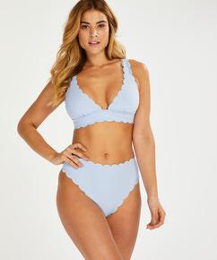 Triangel-Bikini-Oberteil Scallop, Blau