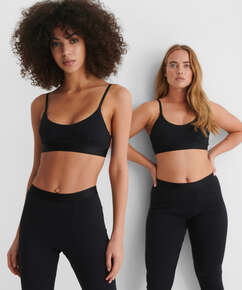 High Waisted Sportleggings Zia HKM x NA-KD, Schwarz