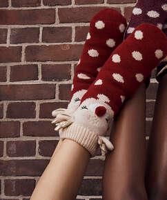Chaussettes à semelle Cerf, Blanc