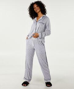 Pyjama long DKNY, Blanc