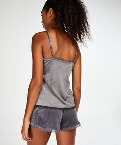 Short Velours Lace, Gris