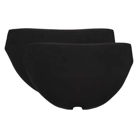 Lot de 2 slip Kim Cotton, Noir
