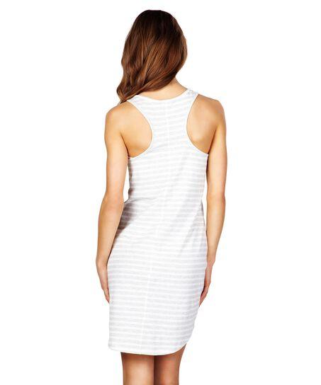 Nightshirt Stripe sleeveless, Gris