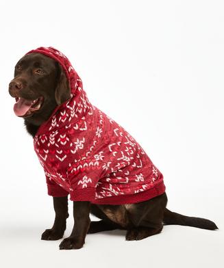 Onesie chiens en polaire, Rouge