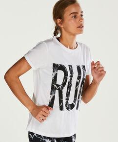 HKMX Sporthemd mit kurzen Ärmeln, Weiß