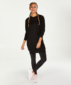 HKMX Sweater-Kleid, Schwarz