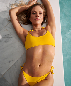 Bikini-Crop-Top Napa, Gelb