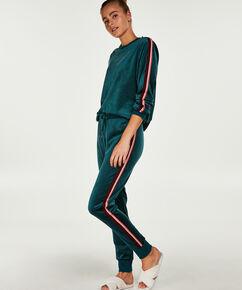 Pantalon de jogging Velours Stripe, Vert