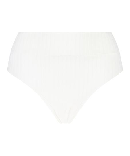Bas de bikini taille haute Emily, Blanc