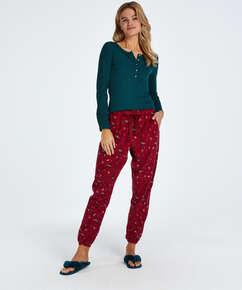 Pantalon de pyjama Twill, Rouge