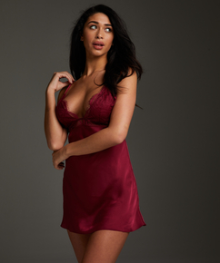 Nuisette Satin Holly, Rouge