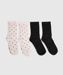 2P de chaussettes Viscose, Rose