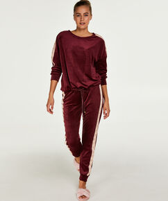 Top Velours Star, Rouge