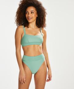Hoher Bikini-Slip Sienna, grün
