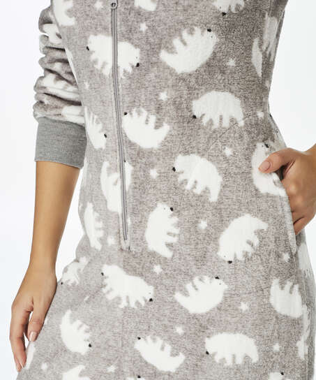 Combinaison Fleece, Gris