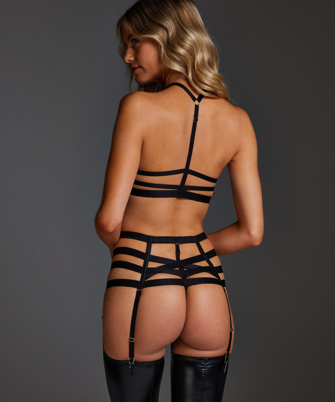 String taille haute Ivy, Noir, main