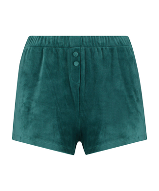 Shorts Velours, Grau