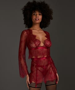 Top Allover Lace, Rot