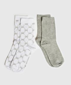 2 paires de chaussettes Antonia, Blanc