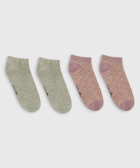 2 Paar Socken, Orange