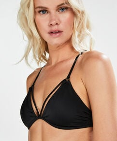 Haut de bikini triangle Sunset Dreams, Noir