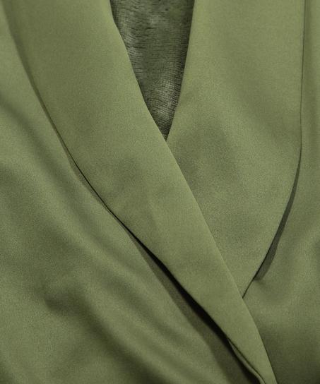 Peignoir en polaire satinée, Vert