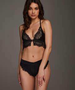 Brazilian Estelle mit hohem Beinausschnitt, Schwarz