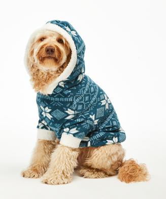 Onesie chiens en polaire, Bleu