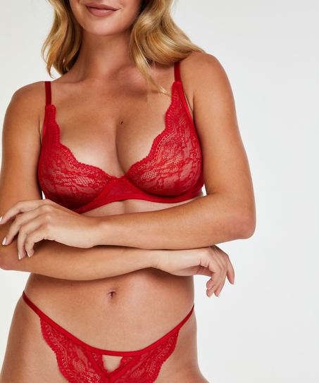 Unwattierter Bügel-BH Isabelle, Rot