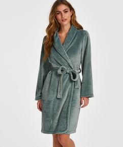 Kurzer Bademantel Fleece Rip, grün
