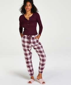 Pantalon de pyjama en sergé, Rouge