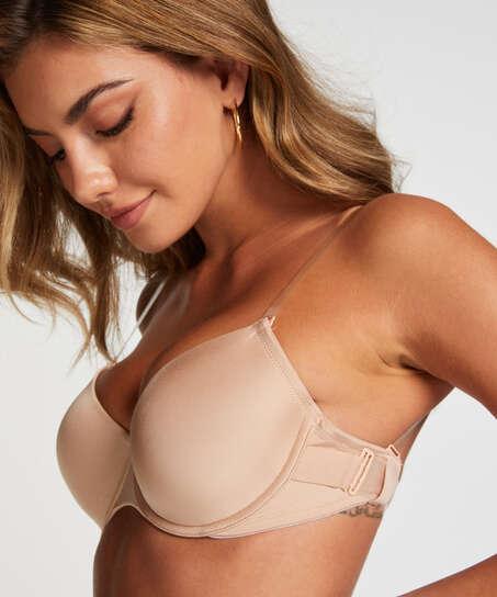 Soutien-gorge à armatures préformé  transparent back, Beige