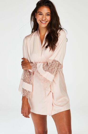 Image of Hunkemöller Kimono aus Satin und Spitze Rose