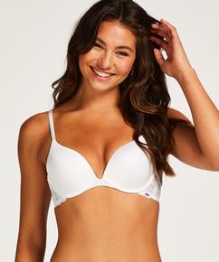 Soutien-gorge à armatures préformé push-up Angie, Blanc