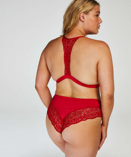 Vorgeformter Triangel-Bralette Rose, Rot