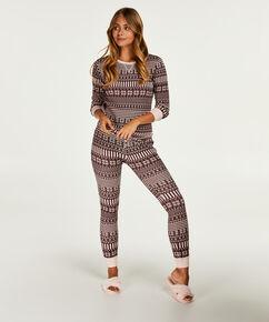 Geschenkset Langes Pyjamaset, Teint