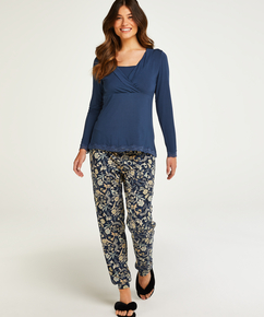 Pyjama-Set für das Stillen , Blau