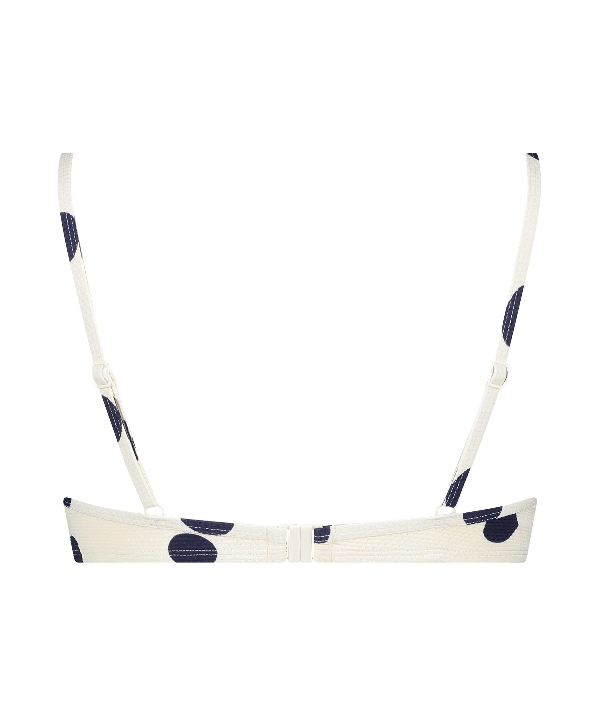 Vorgeformtes Bügel-Bikini-Oberteil Scallop Dot, Weiß, main