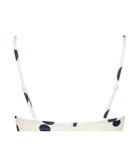 Vorgeformtes Bügel-Bikini-Oberteil Scallop Dot, Weiß