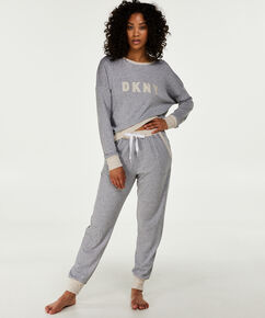 Pyjama long DKNY, Gris