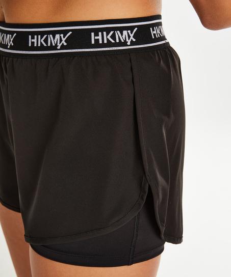 HKMX Sport-Shorts, Schwarz