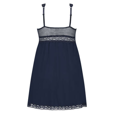 Graphic Lace slipdress, Blau