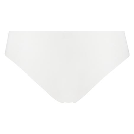 Slip brésilien invisible en coton, Blanc