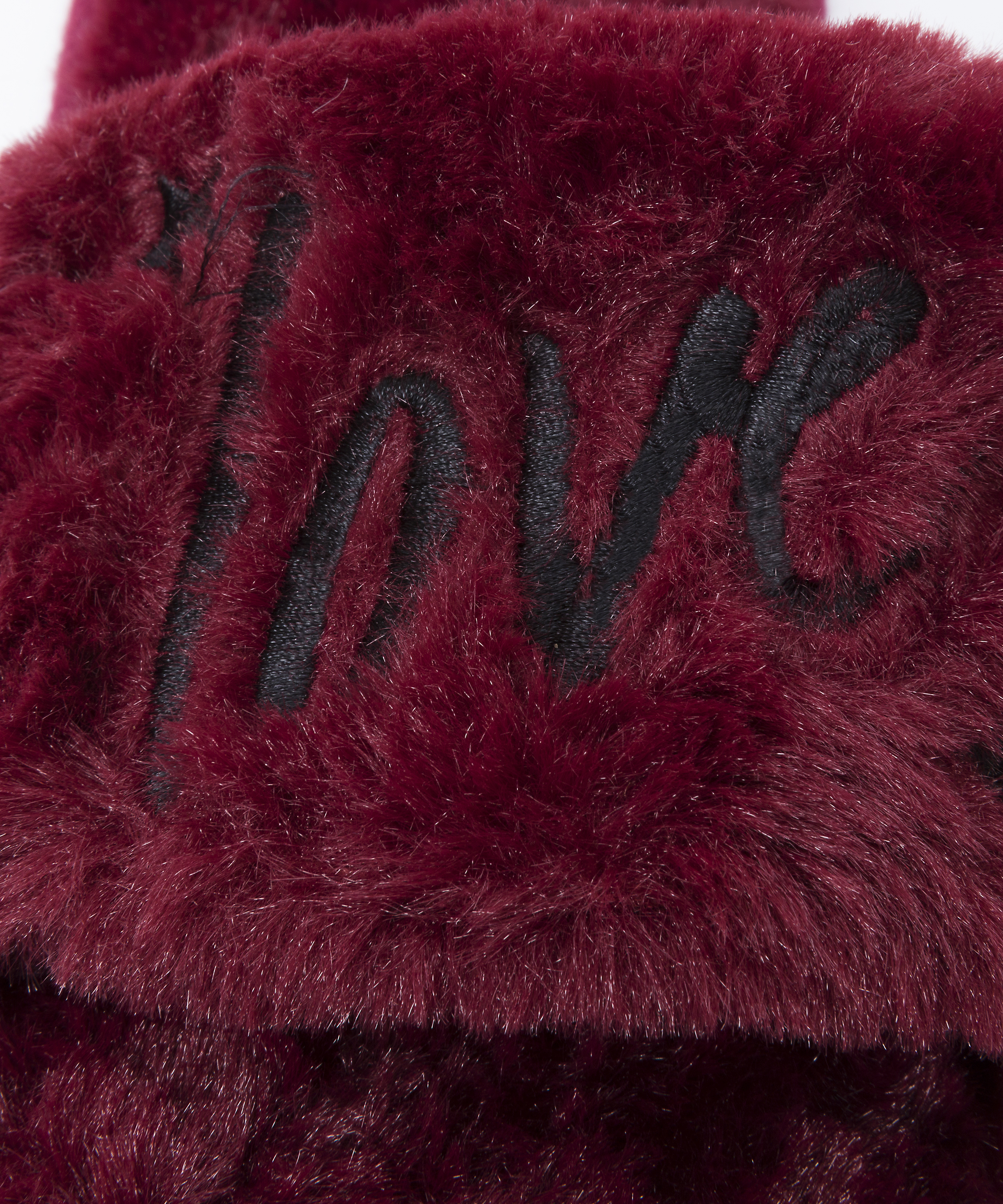 Fake Fur Slippers Love, Rot, main